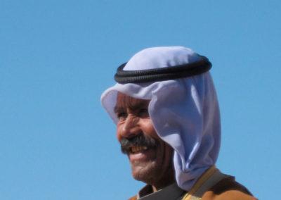 Papa Sliman - Das ist Sliman Abu Hmed, der anno 1990 Katrin Biallas als Tochter in seine Familie aufnahm. Er organisiert alle unsere Kameltouren.