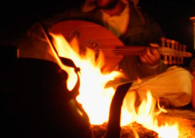 Der Lautenspieler - Auf unseren Touren laden wir manchmal Musiker ein. Hier zu sehen: der Lautenspieler.